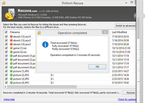 Use Recuva To Get Your Deleted Files Back
